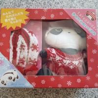 NEW Boneka tare panda & perlengkapan baju rajut San-x Japan original