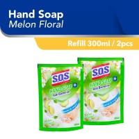 SOS Hand Soap Sabun Cuci Tangan Melon Hijau Refill [300 ML/2pcs]