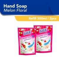 SOS Hand Soap Wangi Strawberry Floral Refill [300 mL/2pcs]