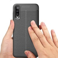 SLIM LEATHER CASE AUTOFOCUS FOR SAMSUNG A50 GALAXY A50 2019 NEW