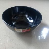 "Mangkok Kaki 5"" HItam Melamine - Golden Dragon W0705"