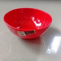 """Mangkok Kaki 5"""" Merah Melamine - Golden Dragon W0705"""