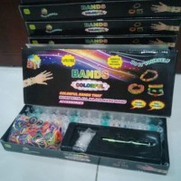Diy Rainbow Loom Bands Colorful Gelang Karet Handmade - Lengkap