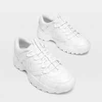 ZM - Sepatu Sneakers Wanita Montana Putih Casual Trendi - Putih, 37