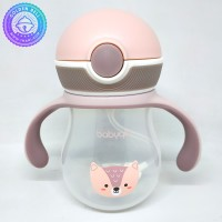 Sippy Cup With Straw 260ml BabyQlo Pink (Salmon)