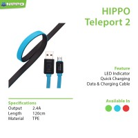Cable Hippo Teleport 2 Micro USB 120CM (Fast Charging)