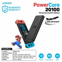Anker Powercore The Official Nintendo Switch Edition 20100mAh PD A1275