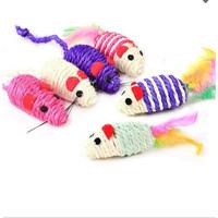 Mainan kucing bentuk Tikus rajut grosir