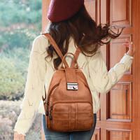 Tas Ransel Gendong Backpack Wanita Vernyx Leica Import TSX687 Brown