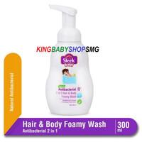 Sleek Baby Antibacterial 2 in 1 Hair & Body Foamy Wash Bottle 300 ml