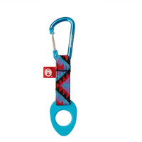 BOTTLE HOLDER WITH CARABINER BLUE