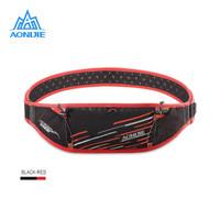 Aonijie Waist Bag W952 - Tas Pinggang Running outdoor - BLACK RED