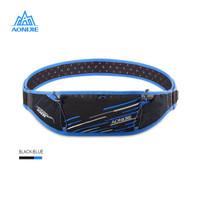 Aonijie Waist Bag W952 - Tas Pinggang Running outdoor - BLACK BLUE
