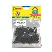 LIPPRO L-0201 SKRUP GIPSUM 6 x 3/4 - BAUT GYPSUM DRYWALL - 100 PCS