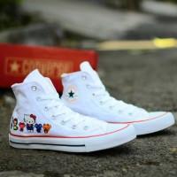 Sepatu Converse 70s Hi Hello Kitty Putih Sneakers Wanita Casual Import