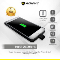 MicroPack Power Case 3200 mAh For Iphone 6 MPC-I6 [D]
