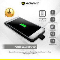 MicroPack Power Case 4000 mAh For Iphone 6 Plus MPC-I6+ [D]