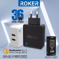 CHARGER ROKER THOR QUALCOMM 3.0 QUICK CHARGE 36W FAST CHARGING