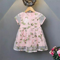 Dress florita/dress anak/dress bunga anak/dress bordir bunga