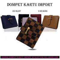 Dompet Kartu Kulit LV Card Holder Wallet Money Atm Fashion Cewek Impor