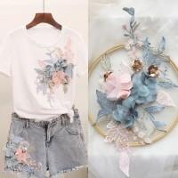 lace bunga pink blue