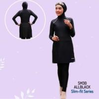 Baju renang muslimah ALL BLACK