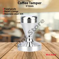 Coffee Tamper 51mm 51 Barista DeLonghi Krups Stainless Mesin Kopi