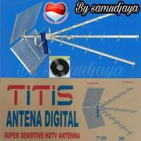 Diskon antena tv titis tt1000 dan kabel rg6 18meter tinggal colok