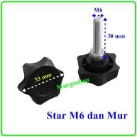 Kaki Stabil Star M6 dan Mur