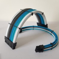 Paket Custom Sleeving 24pin dan 8pin Motherboard VGA extension cable