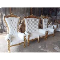 Kursi Syahrini 1 set (1-1-2-1-1)+Kursi pelaminan+ Furniture Jepara