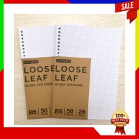 B5 HVS Loose Leaf Dot Grid Ruled Plain 80gsm kertas refill binder