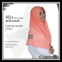 Jilbab Instan Najwa L / Hijab Kaos Bergo Najwa Polos Size L Bergaransi