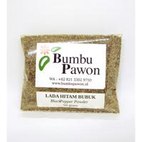 BP018U Lada Hitam Bubuk Murni, Black Pepper Powder 50 gram