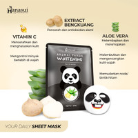 HANASUI ANIMAL PANDA FACE MASK WHITENING