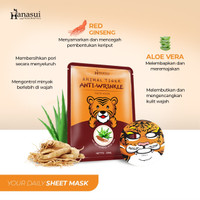 HANASUI ANIMAL TIGER FACE MASK - ANTI WRINKLE