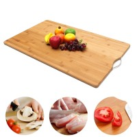 New Extra LARGE Carbonised Kitchen Bamboo Cutting Chopping