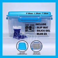 Harga drybox dry box medium silica gel slip mat tempat penyimpanan   antitipu.com