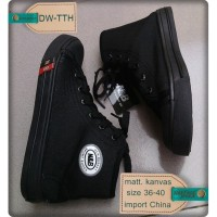PROMO Sepatu Sekolah SD SMP SMA Warna Hitam Boot Tali Murah DW TTH Uni