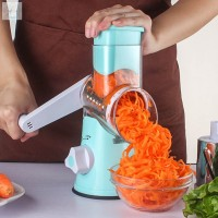 Perlengkapan Rumah Parutan Putar Manual Multifungsi untuk Sayuran /