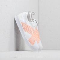 ADIDAS Originals Women Superstar Slip On Shoes in White/Clear orange