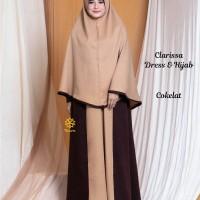 Clarissa Dress n Hijab Cokelat XL
