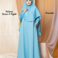 Helena Dress n Hijab Biru Wardah XL