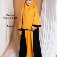 Clarissa Dress n Hijab Kunyit XL