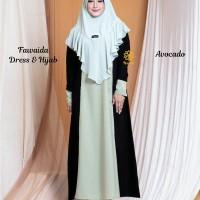 Fawaida Dress n Hijab Avocado XL