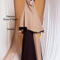 Clarissa Dress n Hijab Cokelat M, L