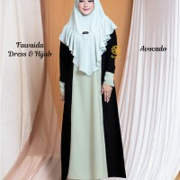 Fawaida Dress n Hijab Avocado S,M,L