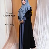 Fawaida Dress n Hijab Dark Grey S, M, L