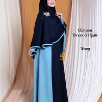Clarissa Dress n Hijab Navy M,L