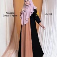 Fawaida Dress n Hijab Mocca S,M,L